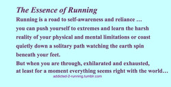 The Essence of Running 