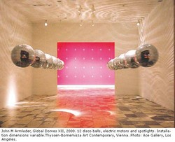John M Arrn;eder, Domes X Il, 2000. 12 disco balls, electric motors and spotlights, Installa- 