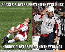 SOCCER PLAYERS PRETEND THEY'RE HURL 