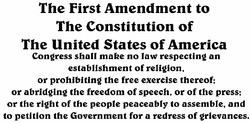 The First Amendment to 