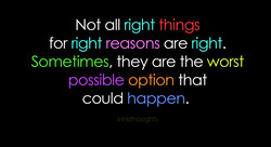 Not all right things 