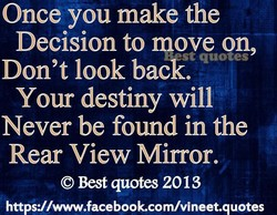 Once you make the 