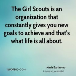 The Girl Scouts is an 