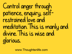 Control anger through 