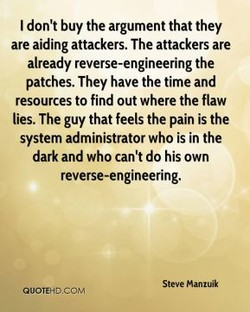 I don't buy the argument that they 