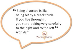 Being divorced is like 