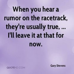 When you hear a 
