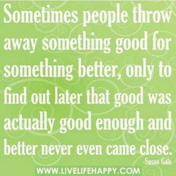 Sometimes people thro 