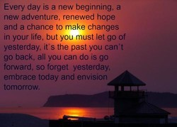 Every day is a new beginning, a 