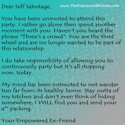 Why do i self sabotage my relationships