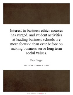 Interest in business ethics courses 