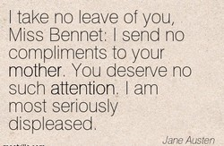 I take no leave of you, 