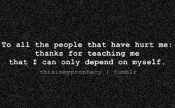 TO the people hurt 