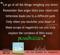 Let go of all the things weighing you down. 