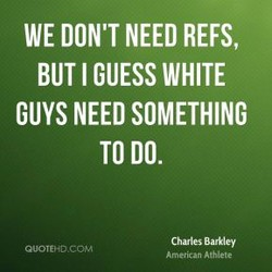WE DON'T NEED REFS, 