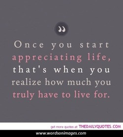 Once you start 