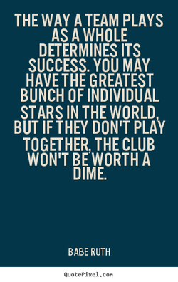 THE WAY A TEAM PLAYS 