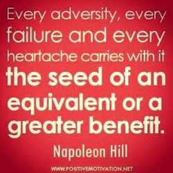 Every adversity, every 