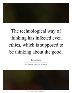 The technological way of 