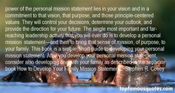 power of the personal mission statement lies in your vision and in a 