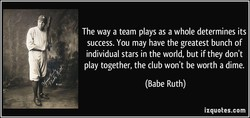 The way a team plays as a whole determines its 