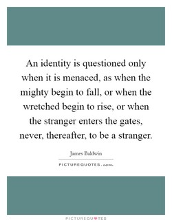 An identity is questioned only 