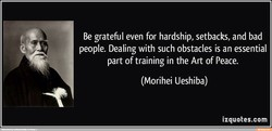 Be grateful even for hardship, setbacks, and bad 