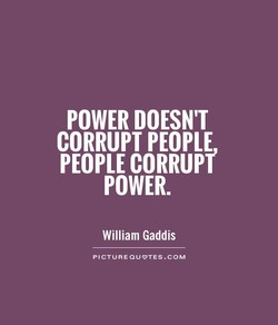 POWER DOESN'T 