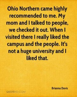 Ohio Northern came highly 