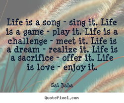 Life iS a gong - Sing it., ife 