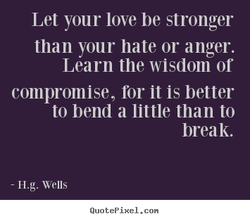 Let your love be stronger 