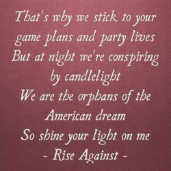 That's Why me stick to your 