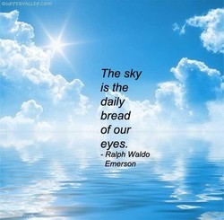 The sky 