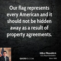 Our flag represents 