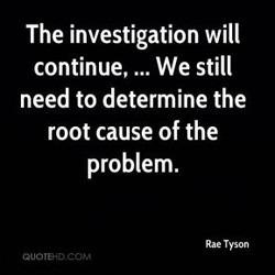 The investigation will 