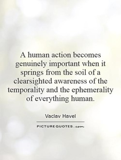 A human action becomes 