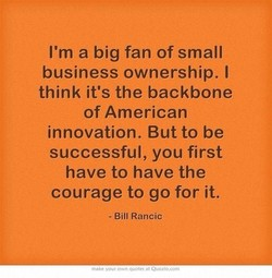 I'm a big fan of small 