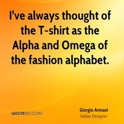 I've always thought of 