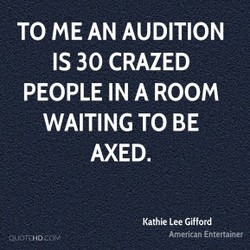 TO ME AN AUDITION 
