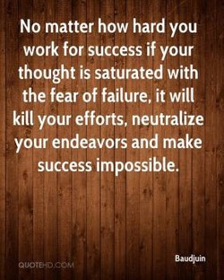 No matter how hard you 