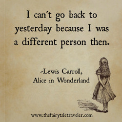 I can't go back to 