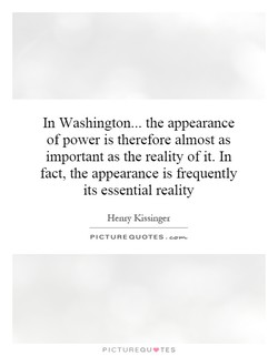 In Washington... the appearance 