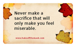 Never make a 