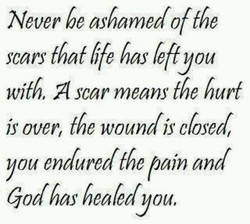 Never be ashamed offbe 
