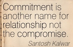Commitment is 