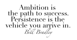 Ambition is 
