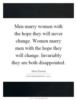 Men marry women with 