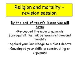 Religion and morality - 