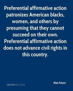 Preferential affirmative action 
