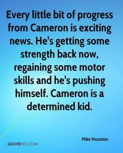 Every little bit of progress 
